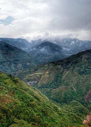 El Oasis Cordillera central - Toche - Volcan Machin